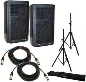 1000 Watt dual amplified crossover speakers