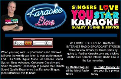 Live Karaoke Internet Radio